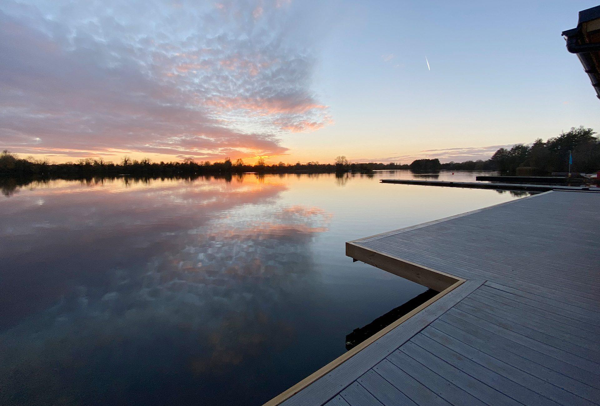 Slip resistant decking landscape