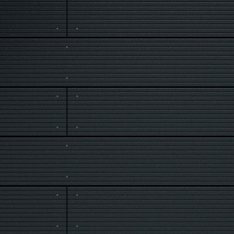 Dark grey decking boards