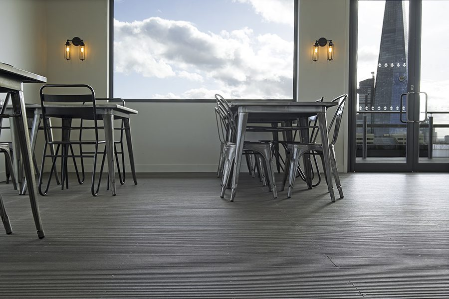 Indoor grey decking