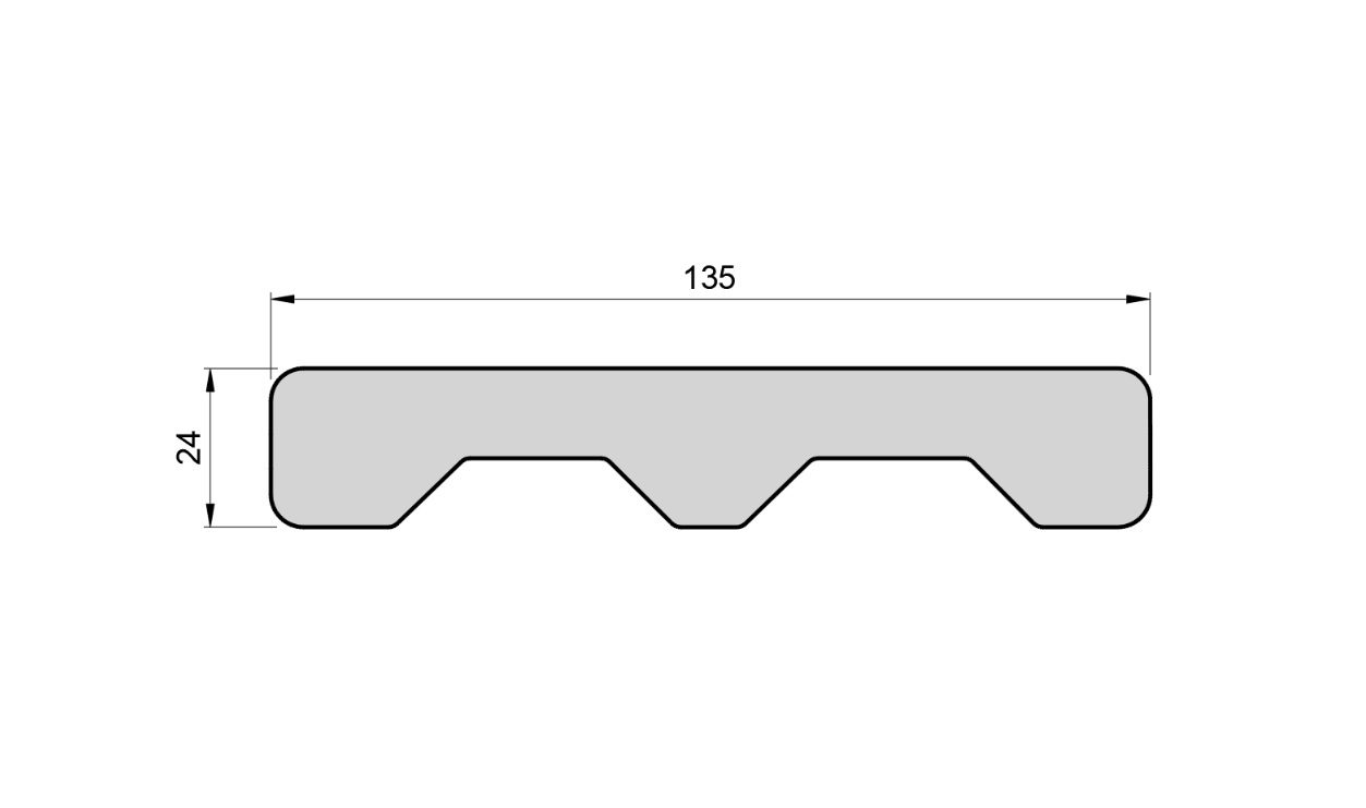 Decking dimensions