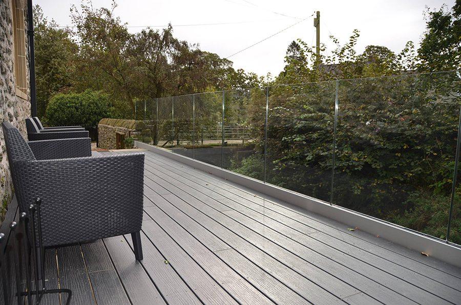Grey decking landscape
