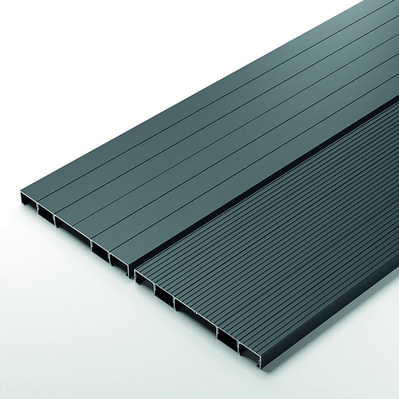 Grey aluminium boards