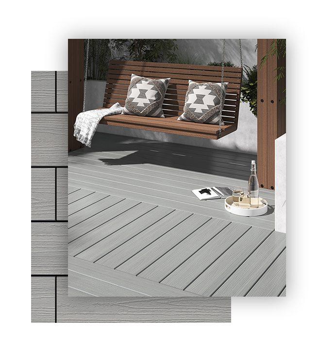 Light grey composite decking