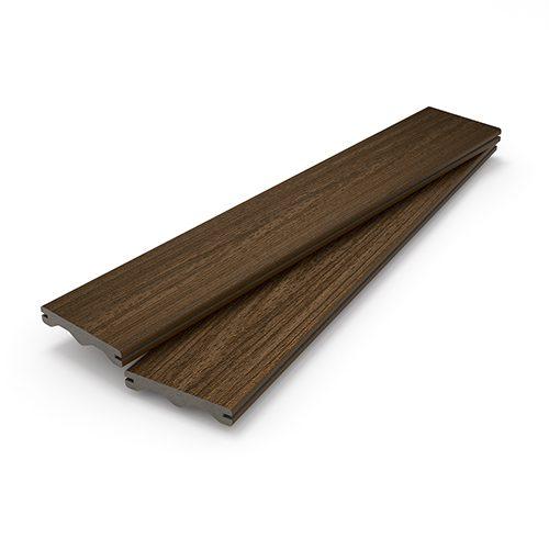 Brown decking boards