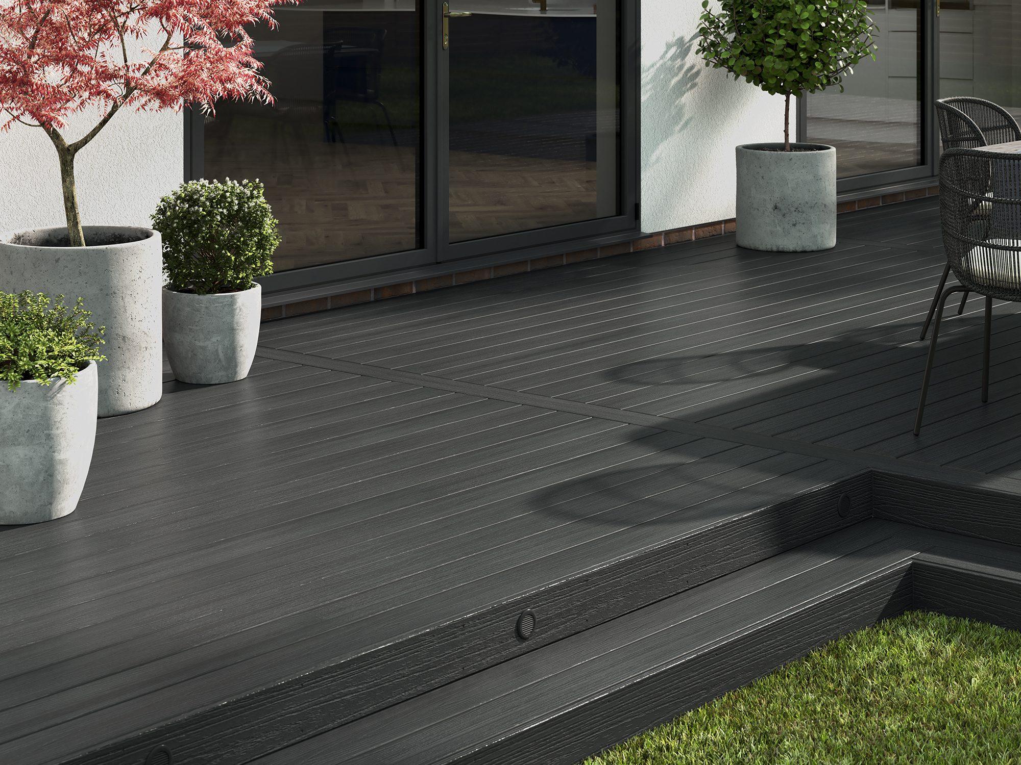 Grey Solid Composite Decking
