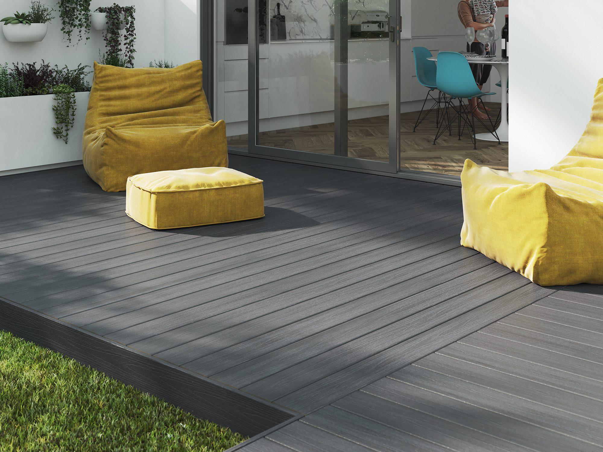 Ecodek Grey Capped Composite Decking