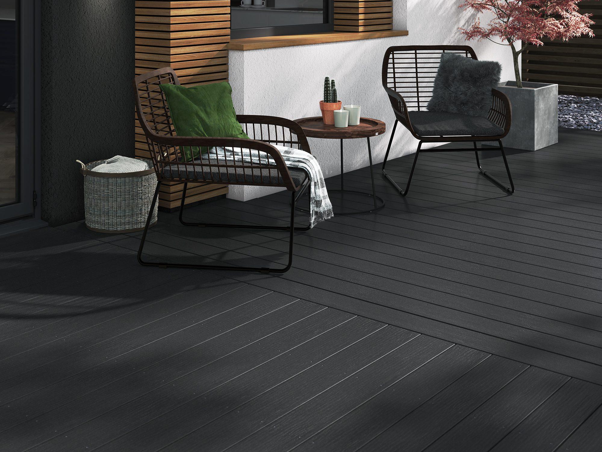 dark grey composite decking