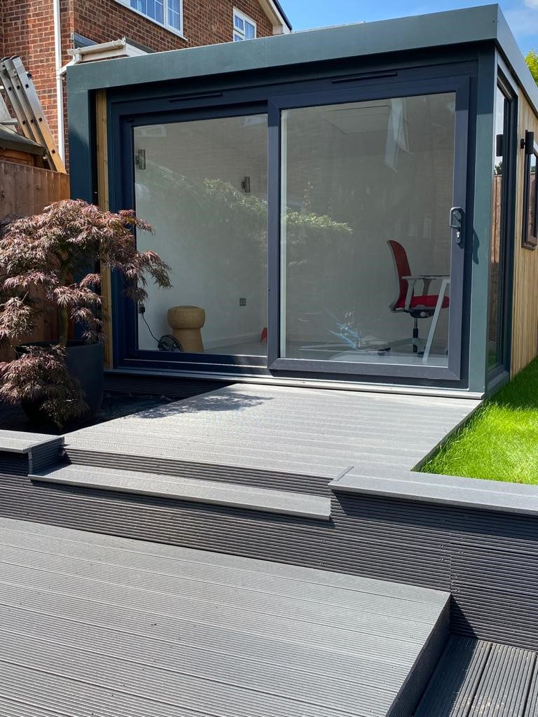 ecodek composite decking slate grey