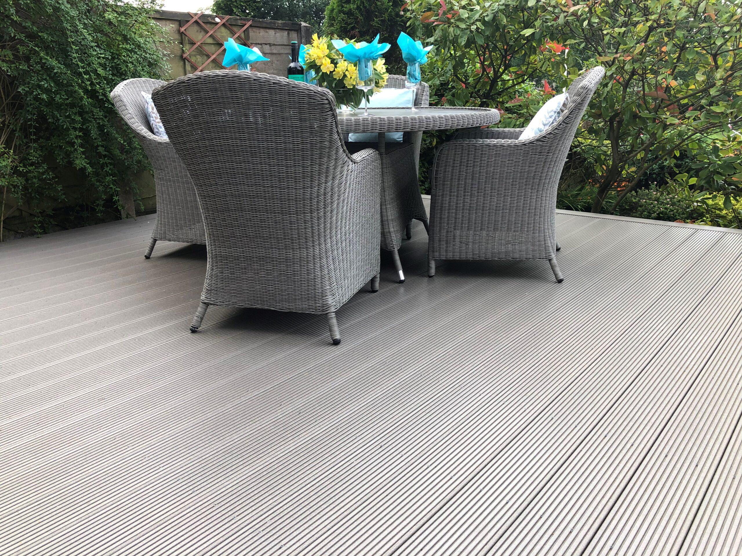 outdoor grey composite decking