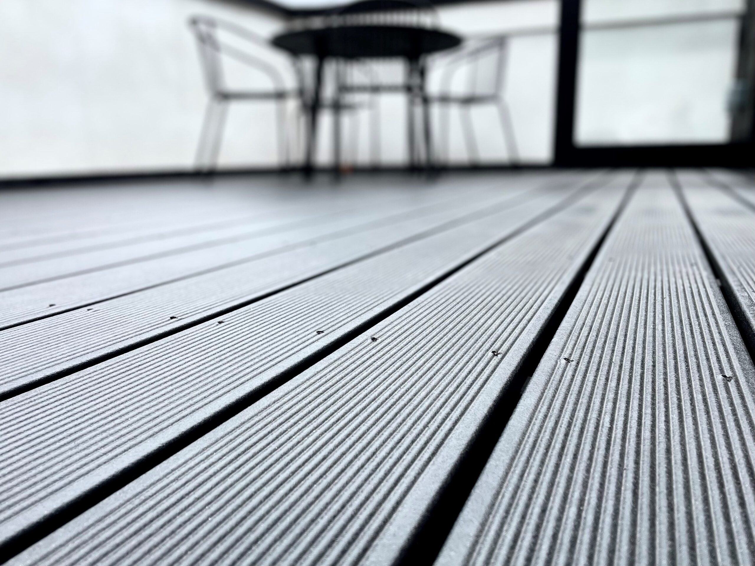 black sustainable composite decking