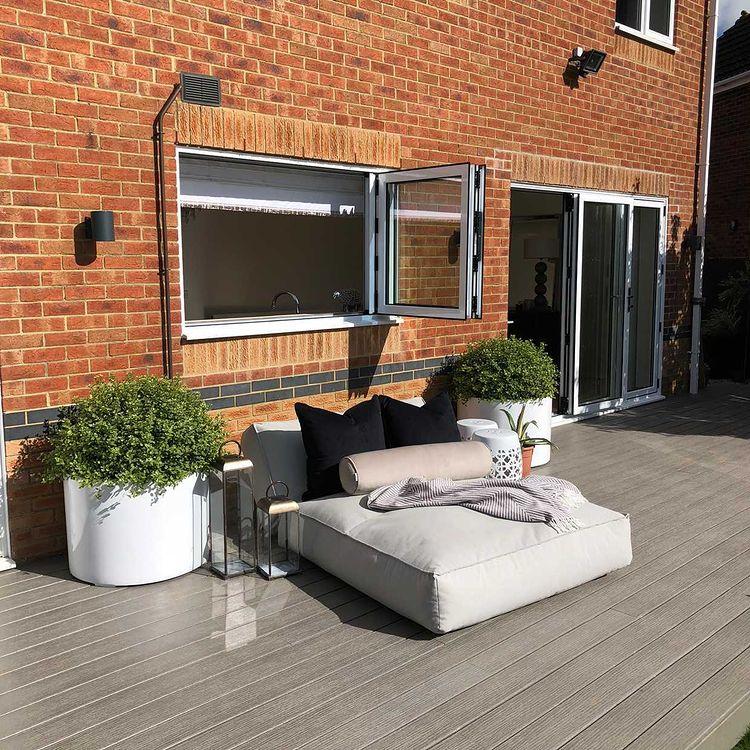 grey eco-friendly composite decking